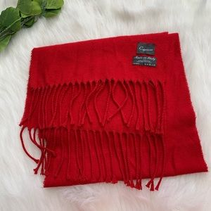 Cejon | Red Soft Acrylic Scarf Made In Italy